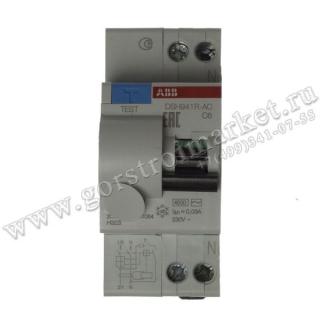 Автомат дифференц. тока DSH941R C6/30MA тип AC