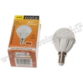 Светодиодный шар LED4.0 WG45 E14 (TF4W40ELC)