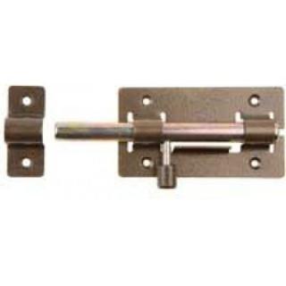 Задвижка дверная,цилиндрический движок 185 мм, с полимерным покрытием